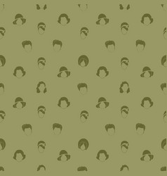 woman hair style silhouettes seamless pattern vector image vector image