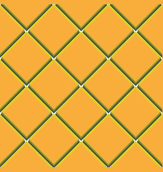 yellow seamless pattern with squares vector image