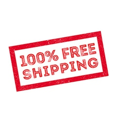 100 percent free shipping rubber stamp vector