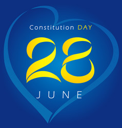 28th june constitution day vector