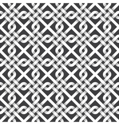 Abstract repeating background of white twisted vector