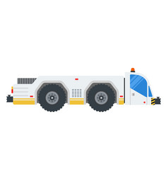 airport tractor flat design isolated object on vector image