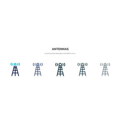 Antennas icon in different style two colored and vector