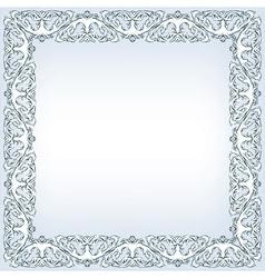 baroque floral frame vector image