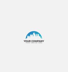 Beautiful skyline logo town skylines city vector