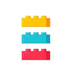 Blocks construction toys flat vector