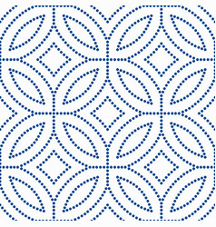 blue flower pattern beads background vector image
