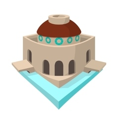 Bode Museum in Berlin icon cartoon style vector image