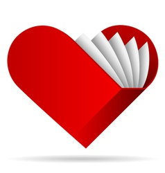 book shape heart icon vector image