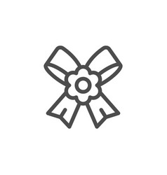 boutonniere line icon vector image