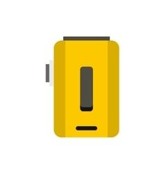 Box mod vaporizer icon flat style vector