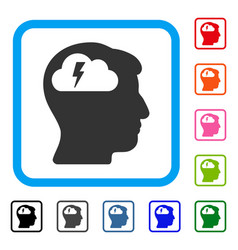 brainstorming framed icon vector image
