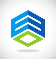 business square building logo vector image