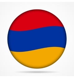 button with waving flag of Armenia vector image