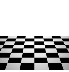 Chess board background perspective view vector