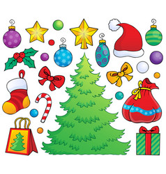 Christmas decoration theme 1 vector