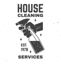 cleaning company badge emblem vector image
