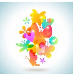 Colorful spring background design vector image