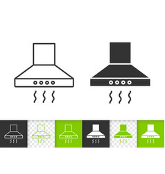 cooker hood simple black line icon vector image