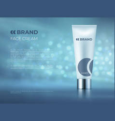 cosmetic product background bottle beauty package vector image