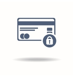Credit Card Security icon Credit card and Padlock vector image