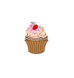 cupcake delicious logo vector image