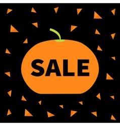 Cute pumpkin Halloween big sale banner poster card vector