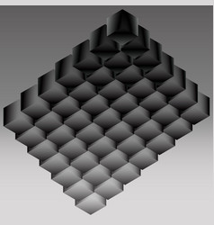 Dark logo from the cubic structure vector