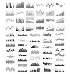 Diagrams collection silhouette vector