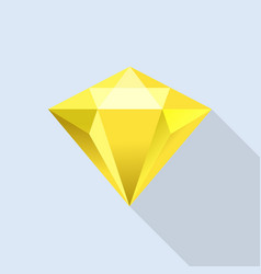 Diamond citrine icon flat style vector