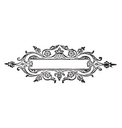 doodad have flowers border vintage engraving vector image