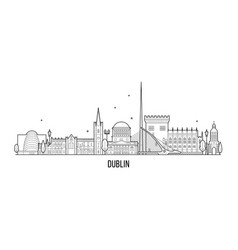 dublin skyline ireland big city buildings vector image