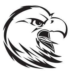 eagle head tattoo vintage engraving vector image