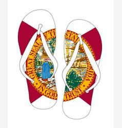 Florida state flag flip flop shoes vector