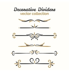 Flourish elements Hand drawn dividers set vector image