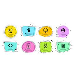 Friends community time and coffee cocktail icons vector