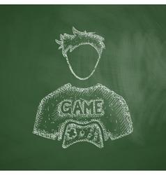 Gamer icon vector