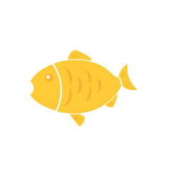golden fish icon vector image