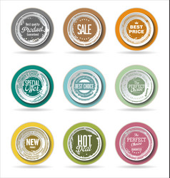 grounge badge collection 3 vector image