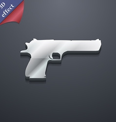 Gun icon symbol 3D style Trendy modern design with vector