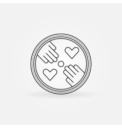 Hand made label or logo vector
