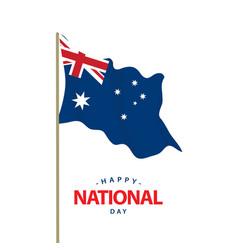 Happy australia national day template design vector