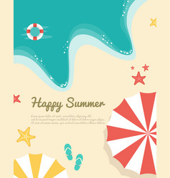 Happy summer day poster style vector
