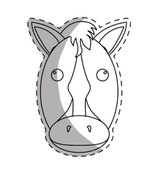 horse equine icon image vector image