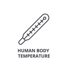 human body temperature thin line icon sign vector image