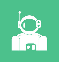 Icon astronaut suit vector