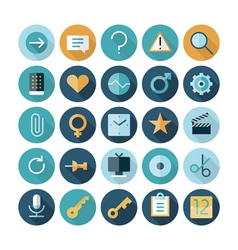 Icons flat line ui internet vector