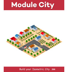 Isometric view a farm vector