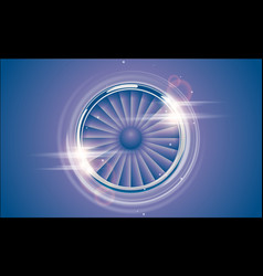 jet engine turbine chrome ring in retro violet vector image