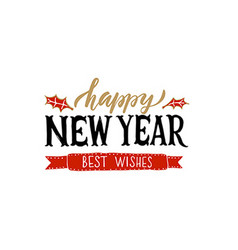 Lettering Happy New Year for ChristmasNew Year vector image